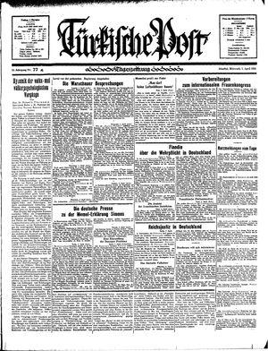 Türkische Post vom 03.04.1935