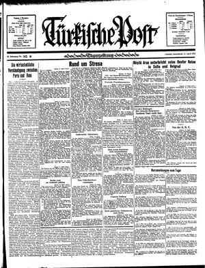 Türkische Post vom 13.04.1935