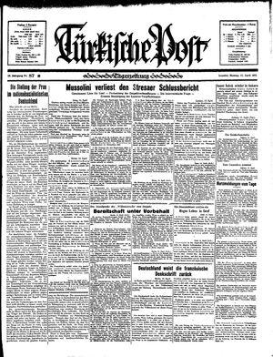 Türkische Post vom 15.04.1935