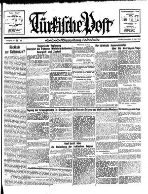 Türkische Post vom 20.04.1935
