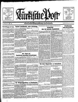 Türkische Post vom 28.04.1935