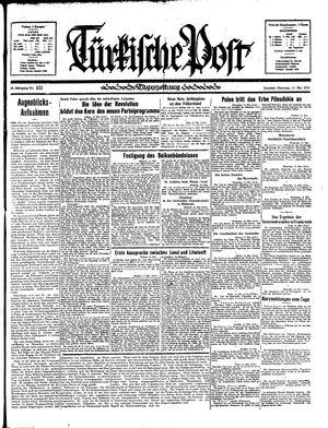 Türkische Post vom 14.05.1935