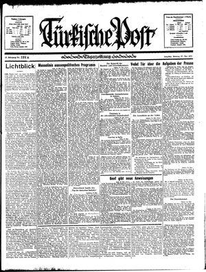 Türkische Post vom 27.05.1935