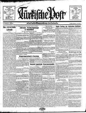 Türkische Post vom 01.07.1935