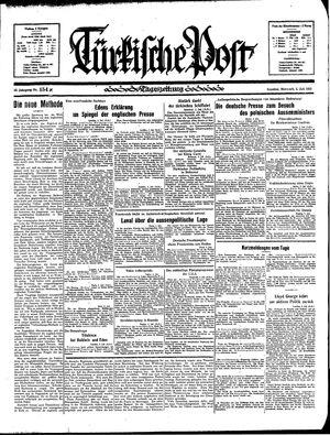Türkische Post vom 03.07.1935