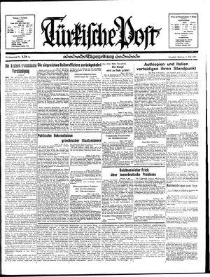 Türkische Post vom 08.07.1935