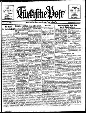Türkische Post vom 11.07.1935