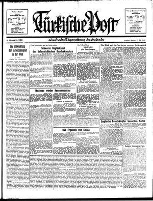 Türkische Post vom 15.07.1935