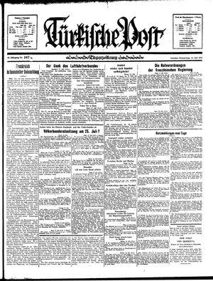 Türkische Post vom 18.07.1935
