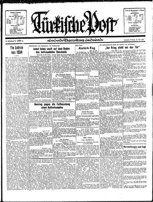 Türkische Post vom 19.07.1935