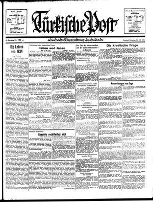 Türkische Post vom 23.07.1935
