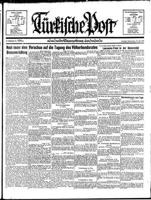 Türkische Post vom 25.07.1935