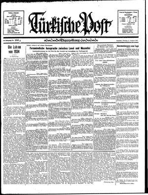 Türkische Post vom 02.08.1935