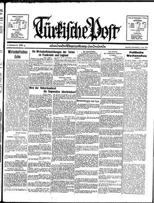 Türkische Post vom 03.08.1935
