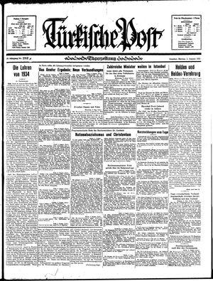 Türkische Post vom 05.08.1935