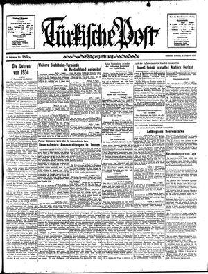 Türkische Post vom 09.08.1935