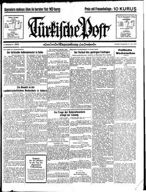 Türkische Post vom 31.08.1935