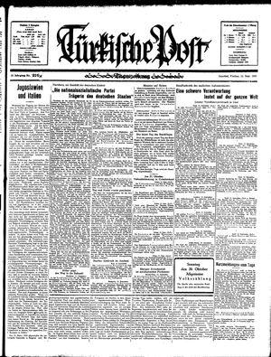 Türkische Post vom 13.09.1935