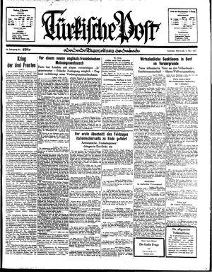 Türkische Post vom 09.10.1935