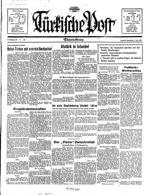 Türkische Post vom 02.01.1937