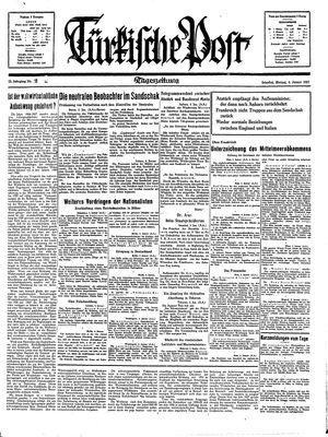 Türkische Post vom 04.01.1937
