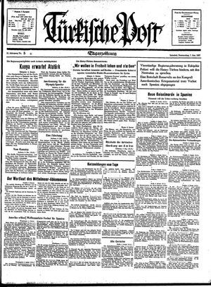 Türkische Post vom 07.01.1937