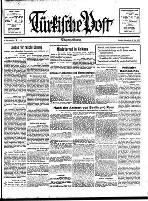 Türkische Post vom 09.01.1937