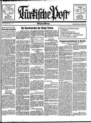 Türkische Post vom 12.01.1937