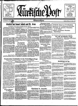 Türkische Post vom 18.01.1937