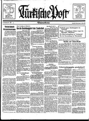 Türkische Post vom 21.01.1937