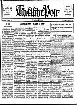 Türkische Post vom 25.01.1937