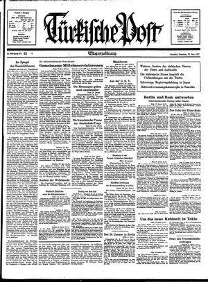 Türkische Post vom 26.01.1937
