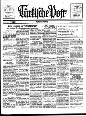 Türkische Post vom 27.01.1937