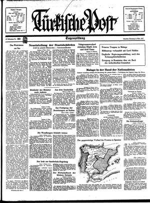 Türkische Post vom 09.02.1937