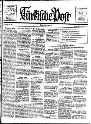 Türkische Post vom 10.02.1937