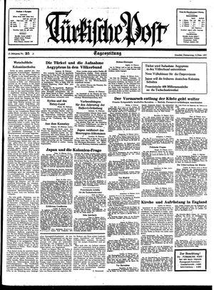 Türkische Post vom 11.02.1937