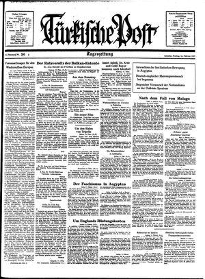 Türkische Post vom 12.02.1937