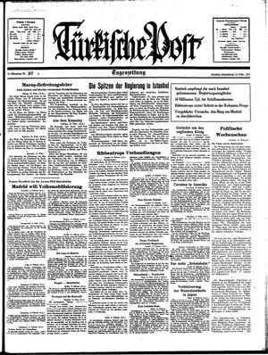 Türkische Post vom 13.02.1937
