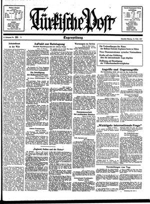 Türkische Post vom 15.02.1937