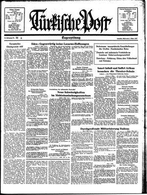 Türkische Post vom 03.03.1937