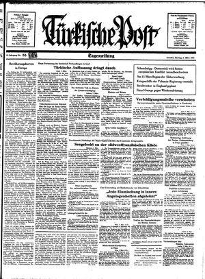 Türkische Post vom 08.03.1937