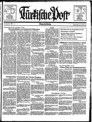 Türkische Post vom 10.03.1937