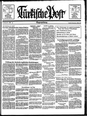 Türkische Post vom 11.03.1937