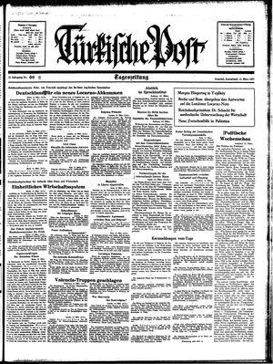 Türkische Post vom 13.03.1937