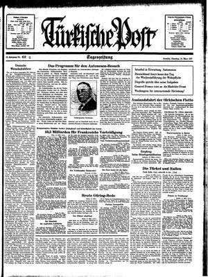 Türkische Post vom 16.03.1937