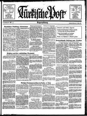 Türkische Post vom 17.03.1937
