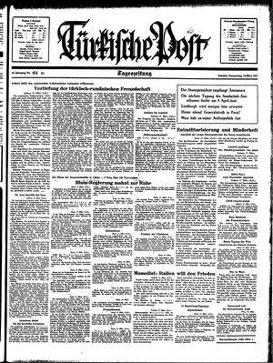 Türkische Post vom 18.03.1937
