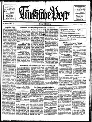 Türkische Post vom 19.03.1937