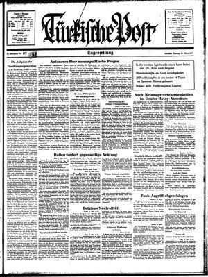 Türkische Post vom 22.03.1937
