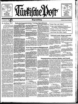Türkische Post vom 26.03.1937